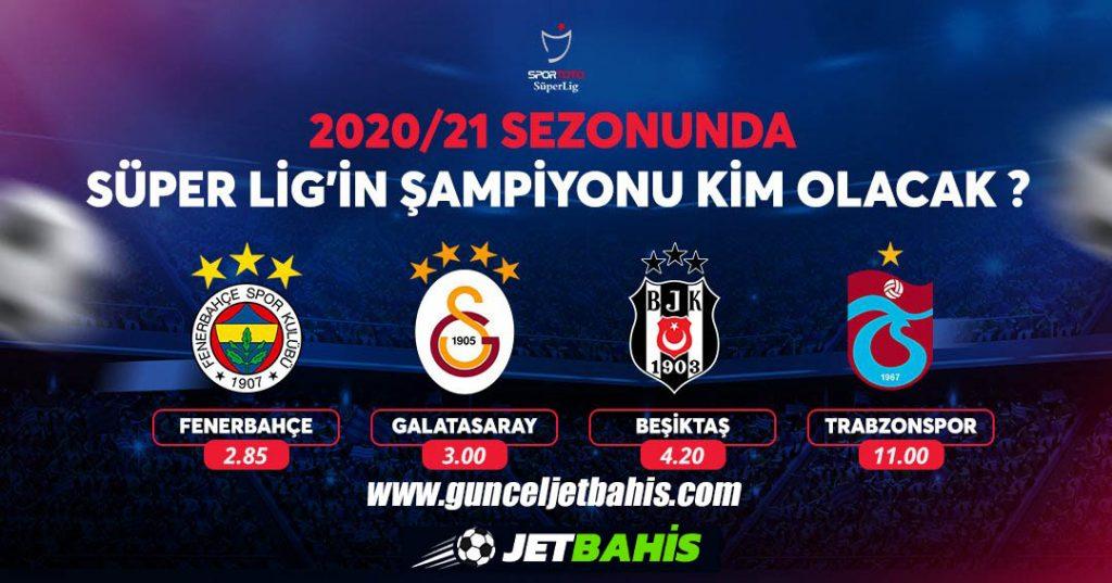 Jetbahis Türkiye Süper Toto Şampiyonluk Oranları